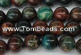 CDS187 15.5 inches 10mm round dyed serpentine jasper beads