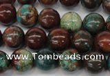 CDS188 15.5 inches 12mm round dyed serpentine jasper beads
