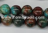 CDS189 15.5 inches 14mm round dyed serpentine jasper beads