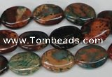 CDS207 15.5 inches 12*16mm oval dyed serpentine jasper beads