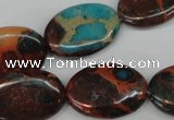 CDS210 15.5 inches 18*25mm oval dyed serpentine jasper beads