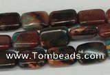 CDS214 15.5 inches 10*14mm rectangle dyed serpentine jasper beads