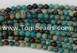 CDS25 15.5 inches 4mm round dyed serpentine jasper beads