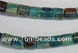 CDS254 15.5 inches 8*8mm tube dyed serpentine jasper beads