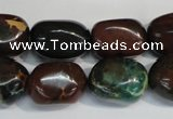 CDS258 15.5 inches 12*17mm nuggets dyed serpentine jasper beads
