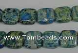CDS270 15.5 inches 12*12mm square dyed serpentine jasper beads