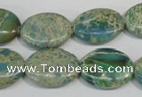 CDS274 15.5 inches 15*20mm oval dyed serpentine jasper beads