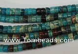 CDS31 15.5 inches 3*5mm heishi dyed serpentine jasper beads