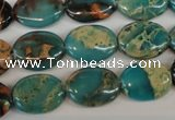 CDS35 15.5 inches 12*16mm oval dyed serpentine jasper beads