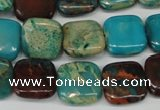 CDS39 15.5 inches 14*14mm square dyed serpentine jasper beads