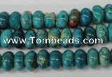 CDS45 15.5 inches 6*10mm rondelle dyed serpentine jasper beads