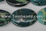 CDS50 15.5 inches 22*30mm oval dyed serpentine jasper beads