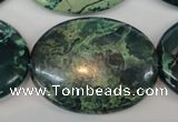 CDS51 15.5 inches 30*40mm oval dyed serpentine jasper beads