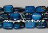 CDT224 15.5 inches 24mm round dyed aqua terra jasper beads