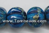 CDT297 15.5 inches 19*23mm pumpkin dyed aqua terra jasper beads