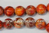 CDT494 15.5 inches 12mm round dyed aqua terra jasper beads
