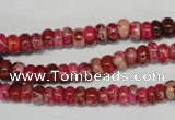 CDT584 15.5 inches 3*6mm rondelle dyed aqua terra jasper beads