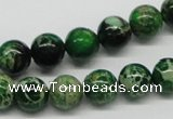 CDT69 15.5 inches 10mm round dyed aqua terra jasper beads