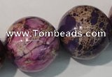 CDT699 15.5 inches 24mm round dyed aqua terra jasper beads