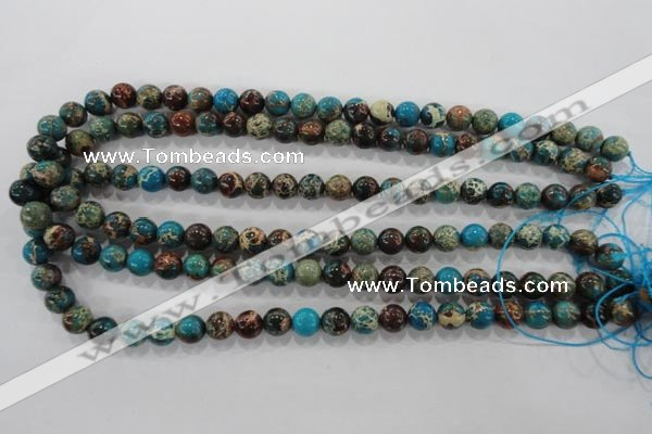 CDT802 15.5 inches 8mm round dyed aqua terra jasper beads wholesale