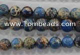 CDT813 15.5 inches 8mm round dyed aqua terra jasper beads wholesale