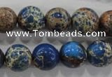 CDT815 15.5 inches 12mm round dyed aqua terra jasper beads wholesale