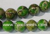 CDT922 15.5 inches 12mm round dyed aqua terra jasper beads
