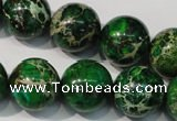CDT958 15.5 inches 18mm round dyed aqua terra jasper beads
