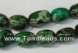 CDT960 15.5 inches 10*13mm nuggets dyed aqua terra jasper beads
