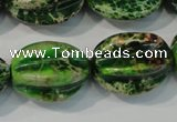 CDT966 15.5 inches 18*25mm star fruit shaped dyed aqua terra jasper beads
