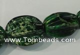CDT967 10*15mm - 24*33mm star fruit shaped dyed aqua terra jasper beads
