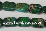 CDT974 15.5 inches 12*16mm rectangle dyed aqua terra jasper beads