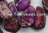 CDT981 15 inches 15*20mm – 25*48mm freeform dyed aqua terra jasper beads