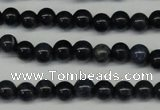 CDU100 15.5 inches 4mm round blue dumortierite beads wholesale
