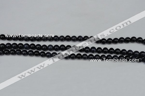 CDU101 15.5 inches 6mm round blue dumortierite beads wholesale