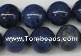 CDU107 15.5 inches 18mm round blue dumortierite beads wholesale