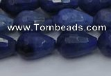 CDU214 15.5 inches 10*15mm faceted teardrop blue dumortierite beads