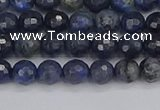 CDU315 15.5 inches 4mm faceted round blue dumortierite beads