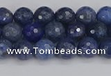 CDU323 15.5 inches 6mm faceted round blue dumortierite beads
