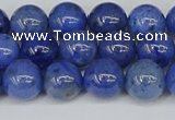 CDU342 15.5 inches 8mm round blue dumortierite beads wholesale