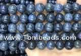 CDU355 15.5 inches 14mm round blue dumortierite beads wholesale