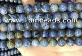 CDU363 15.5 inches 10mm round sunset dumortierite beads wholesale