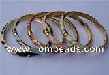 CEB05 5pcs 6mm width gold plated alloy with enamel bangles wholesale