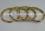 CEB109 7mm width gold plated alloy with enamel bangles wholesale