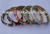 CEB12 5pcs 10mm width gold plated alloy with enamel bangles wholesale
