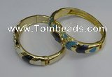 CEB127 16mm width gold plated alloy with enamel bangles wholesale