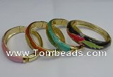 CEB128 16mm width gold plated alloy with enamel bangles wholesale
