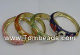 CEB131 16mm width gold plated alloy with enamel bangles wholesale