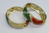 CEB135 18mm width gold plated alloy with enamel bangles wholesale