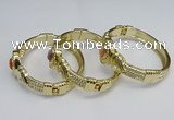 CEB137 22mm width gold plated alloy with enamel bangles wholesale